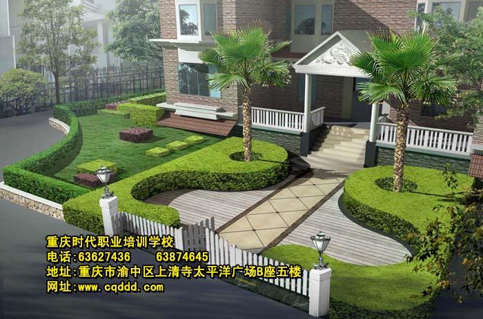 建筑设计别墅入户花园效果图